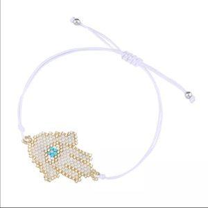 Jewelry - NEW Hamsa Adjustable Beaded Bracelet